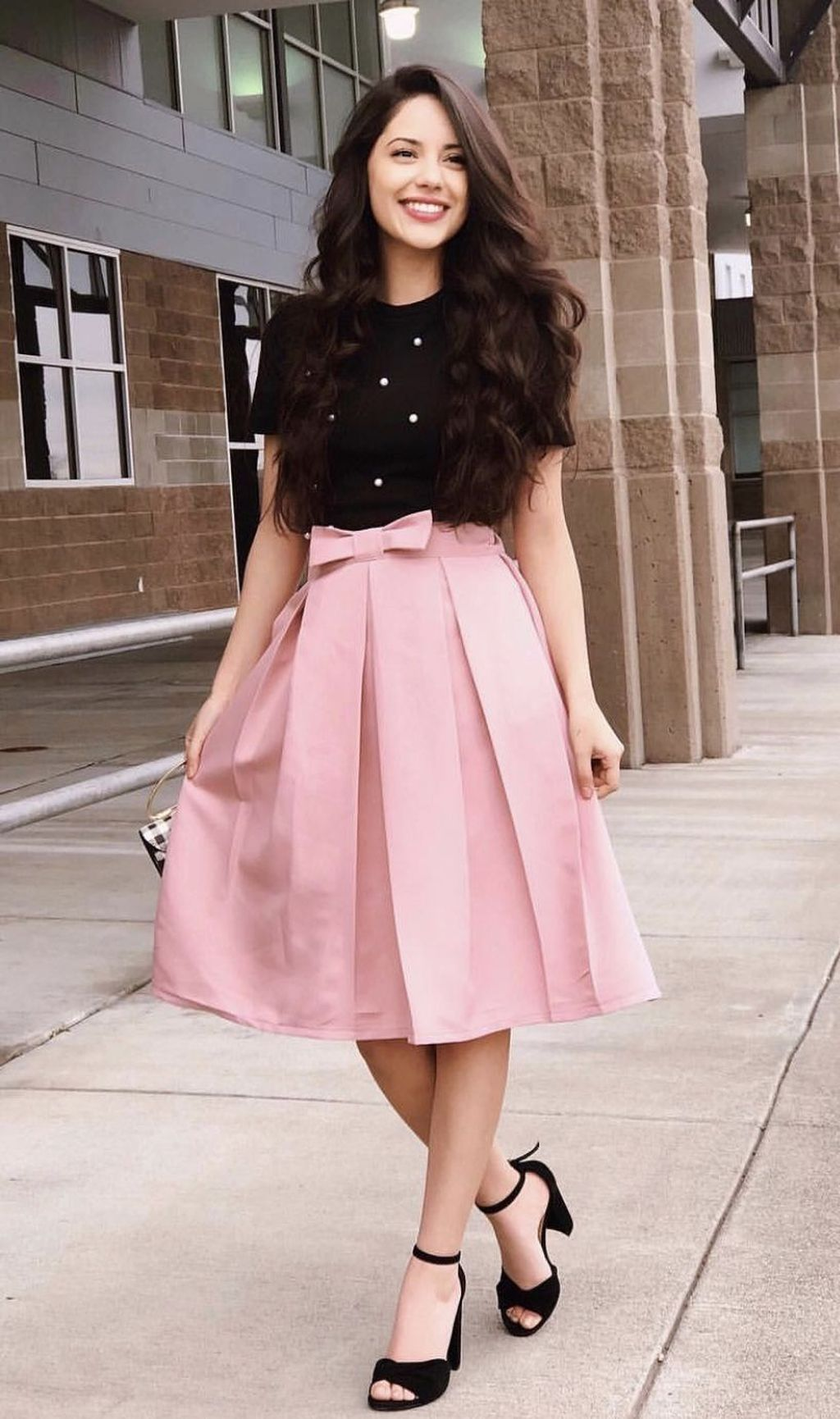 Cute Pink Skirts Outfit Ideas For Spring