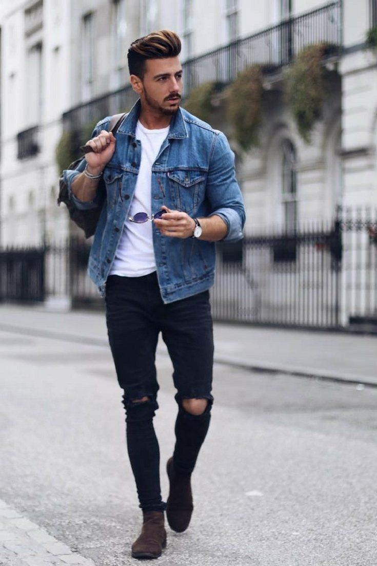 Denim jacket fashion