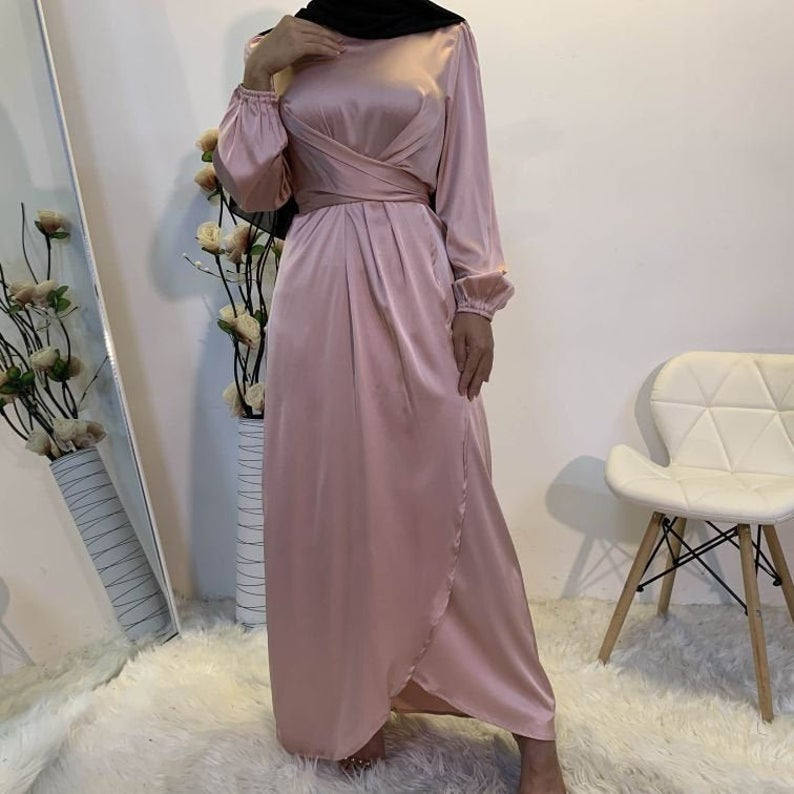 Elegant Satin Dresses-flowy satin