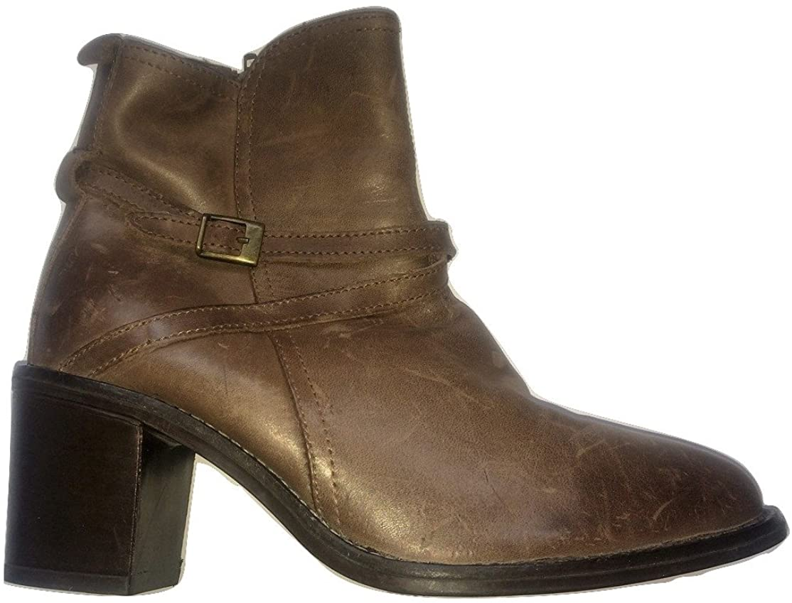 "FAITH""Chelsea"" Aged Look Ankle Boots Real Leather"