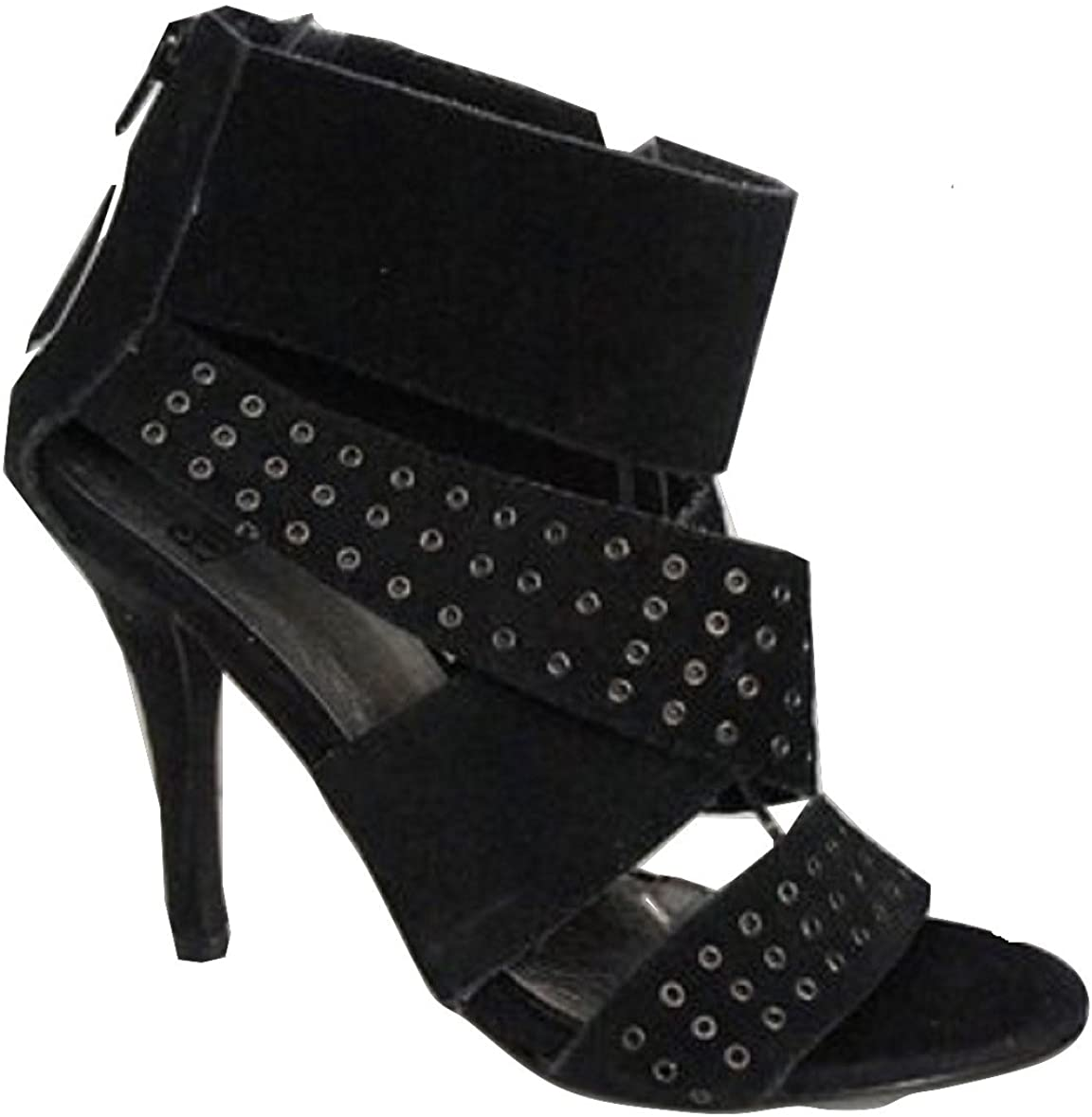 FAITH Real Leather Upper Studded Caged Shoe