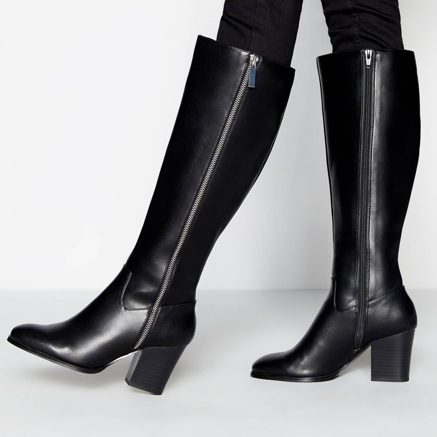 Faith Black 'Mich' High Heel Boots