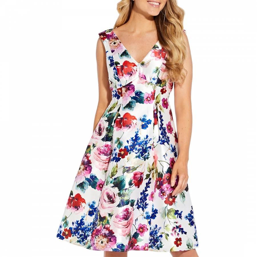 Floral Mikado Midi Dress