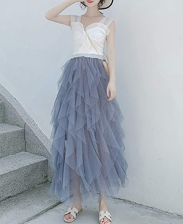 Geagodelia F-46572 Women's Elegant Soft Long Summer Skirt