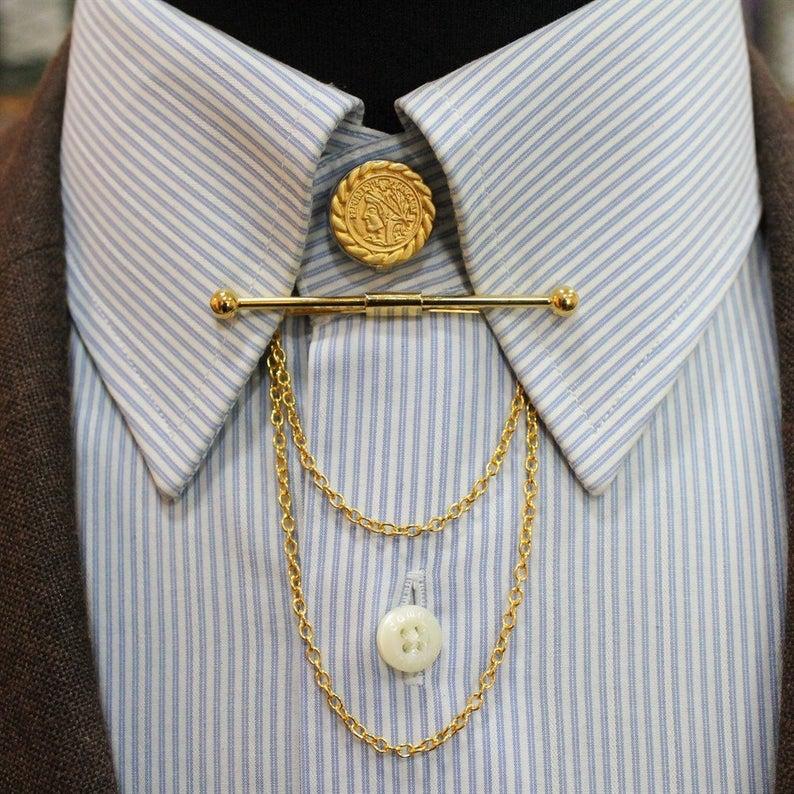 Gold Color Collar Pin