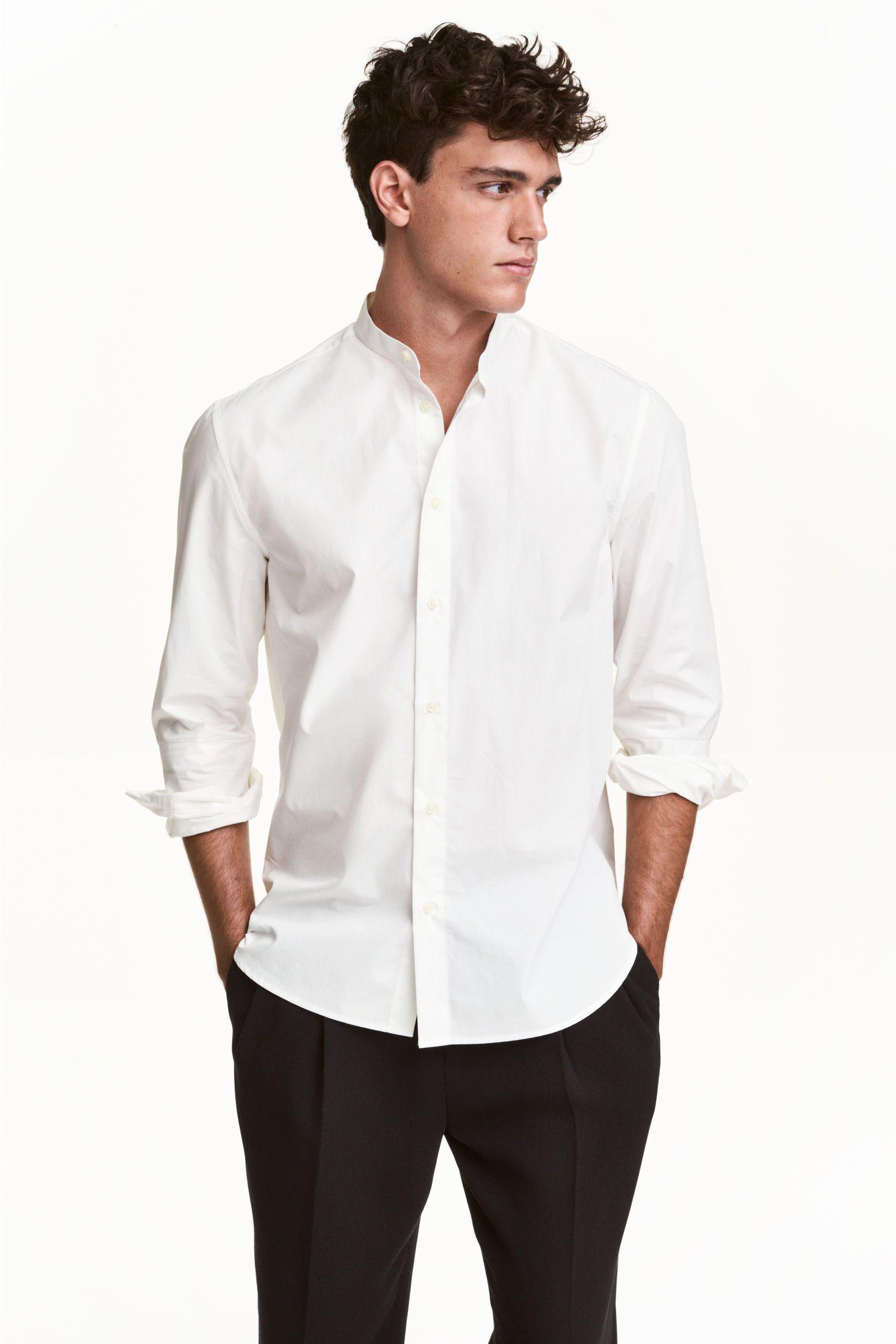 Grandad collar shirt idea