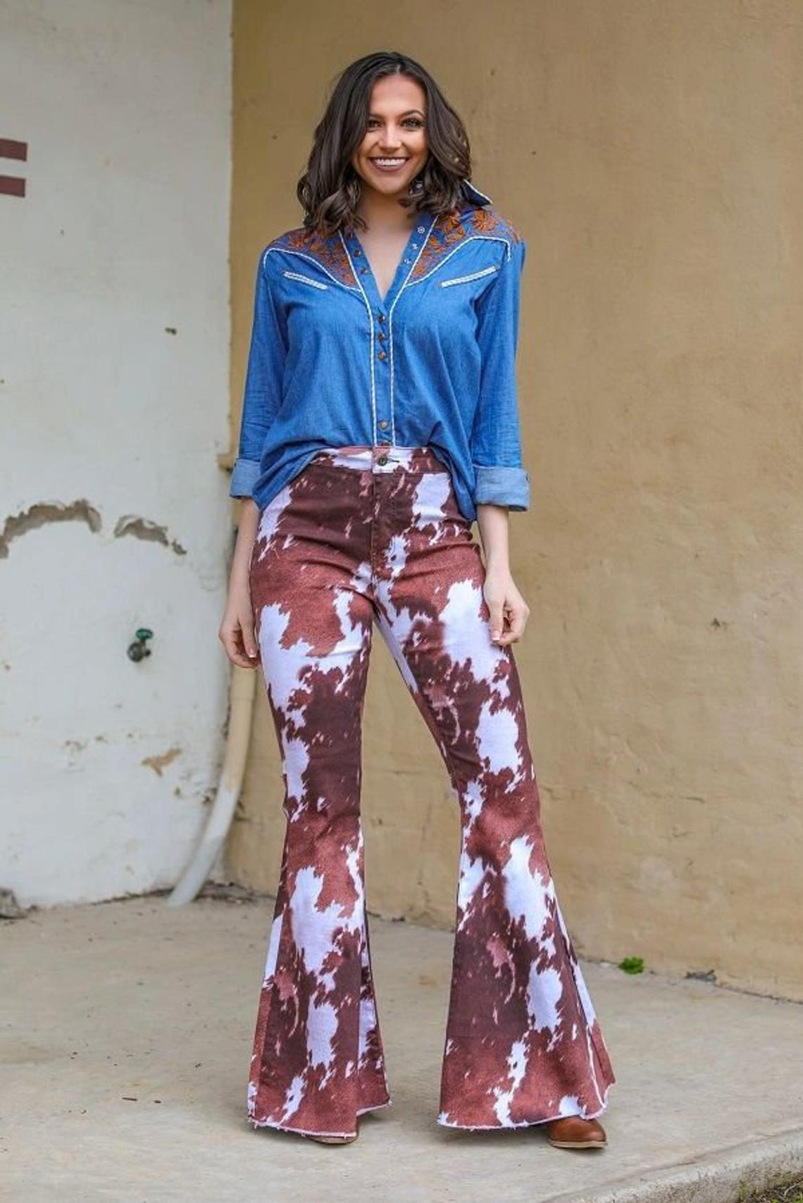Gypsy Cowhide Denim Stretch Flare Jeans