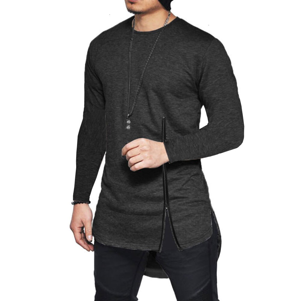 Side Slit Zip T-shirt For Men