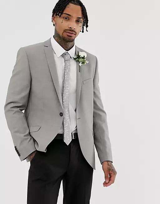 Heart & Dagger Slim Wedding Suit Jacket