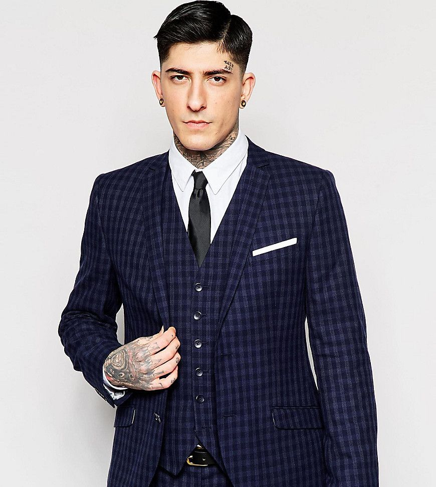 Heart& Dagger Tonal Check Suit