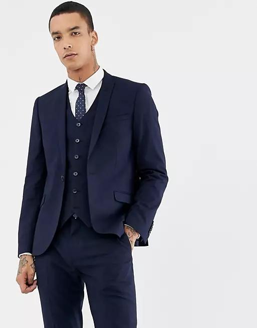 Heart & Dagger skinny suit jacket