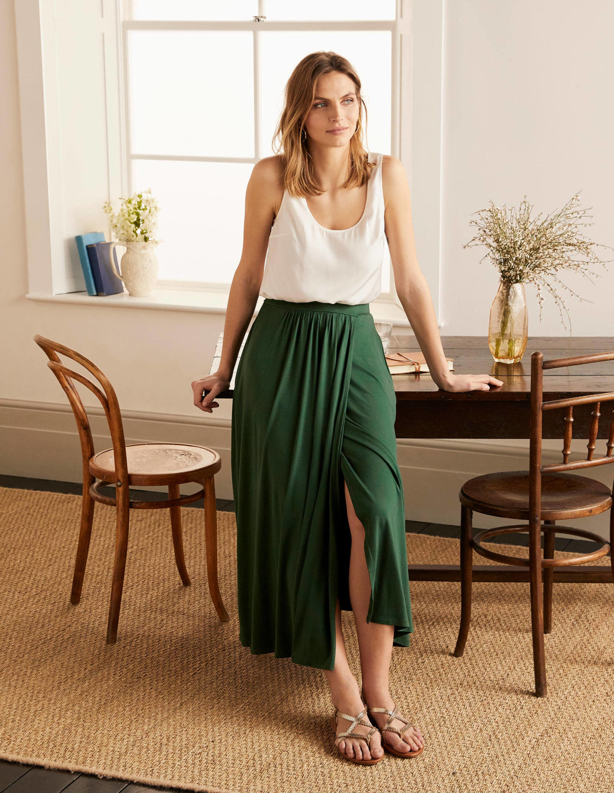 Helana Wrap Skirt - Palm Leaf