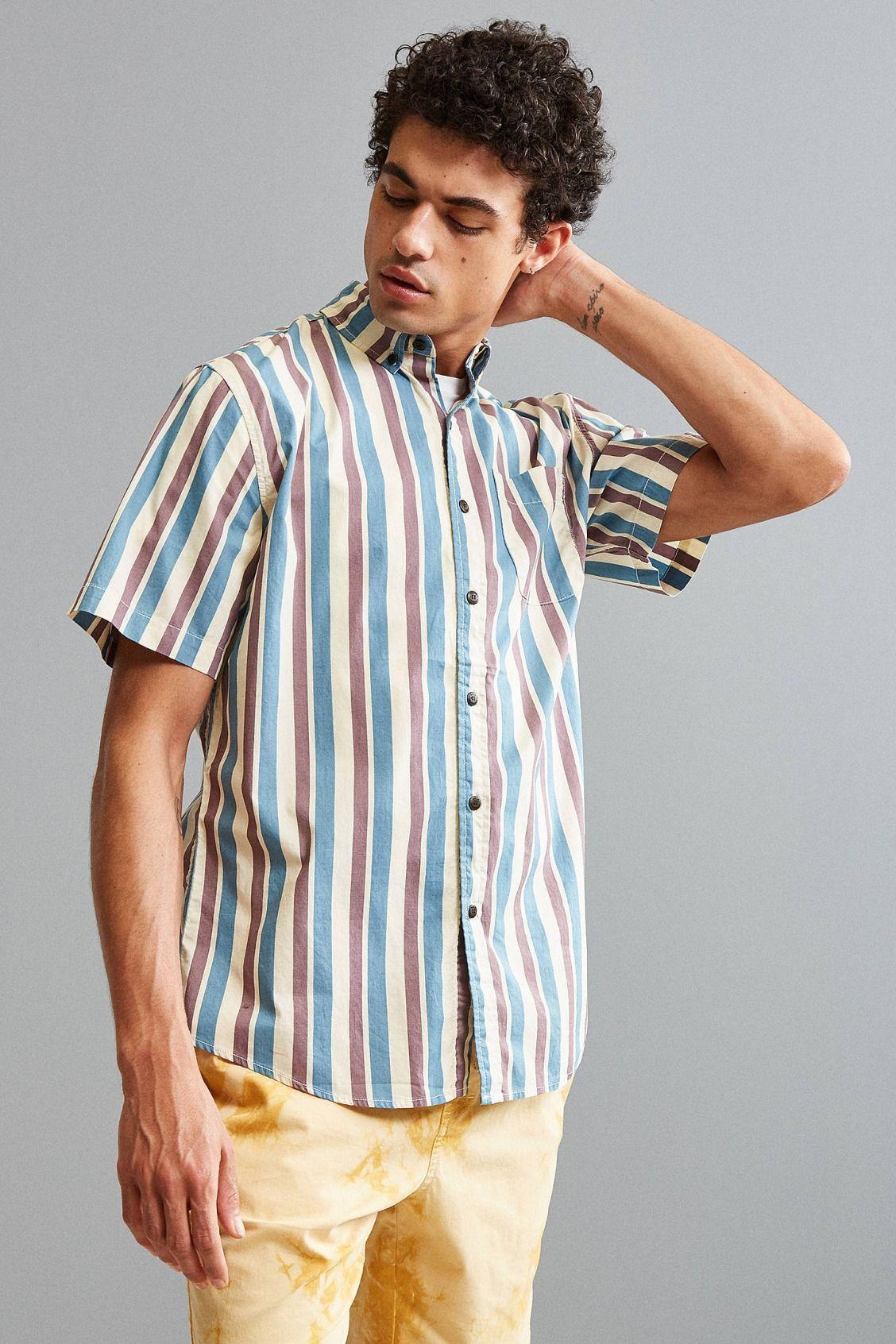 Katin Vertical Stripe Short Sleeve Button-Down Shirt