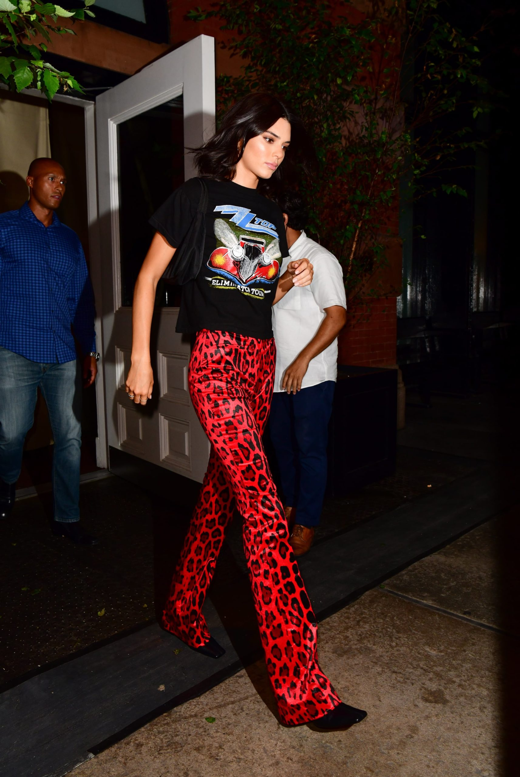 red Cow Print Jeans