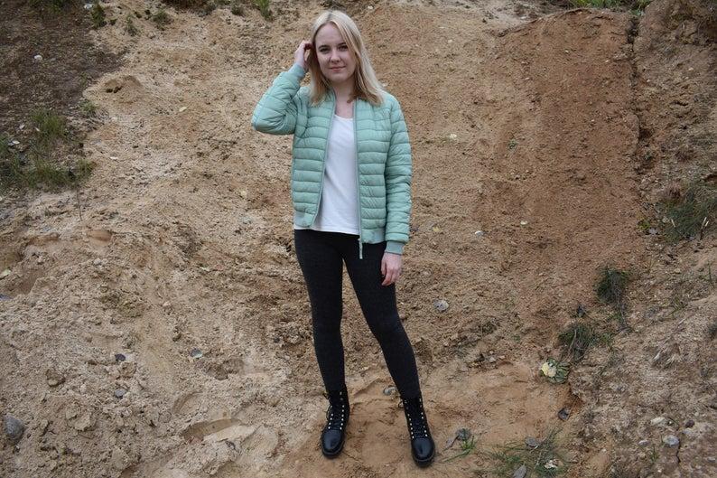 Knitted warm leggings for women skinny wool alpaca pants trousers sweatpants slim fit pants black pink blue white gray