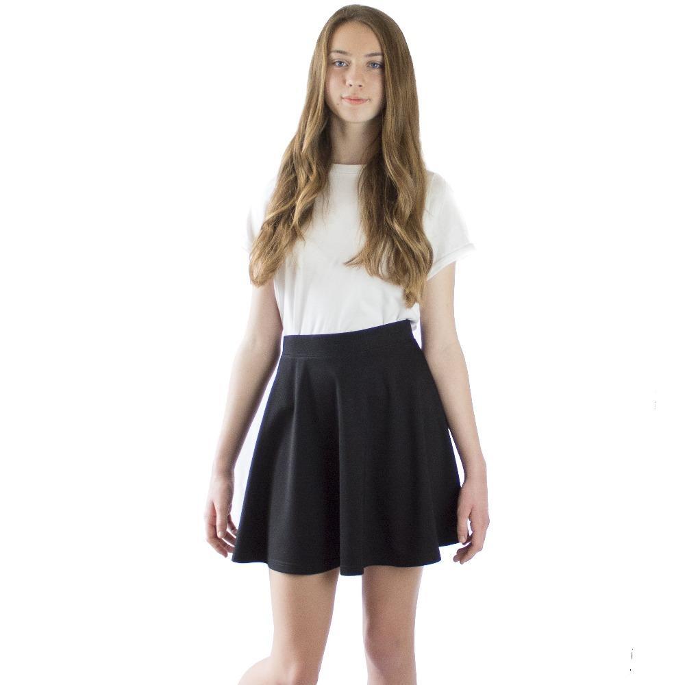 LACHERE Black Skater Skirt, Mini, Size 4, 6, 8, 10, 12, 14
