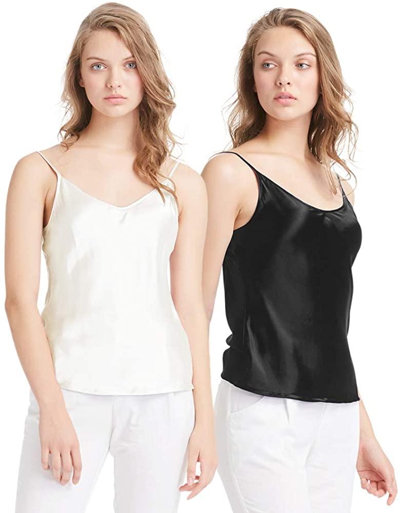 LilySilk Womens Silk Camisole 100 Pure Mulberry Silk Tank Tops