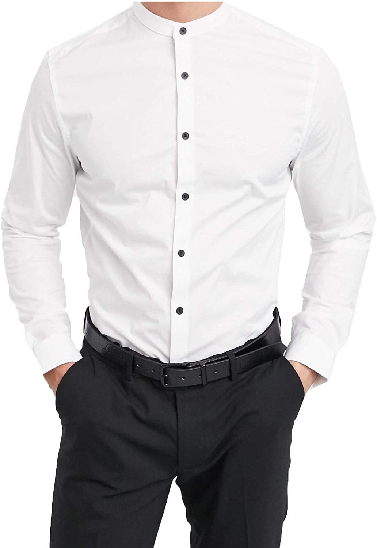 Lyon Becker Men's Slim Fit Grandad Casual Shirt