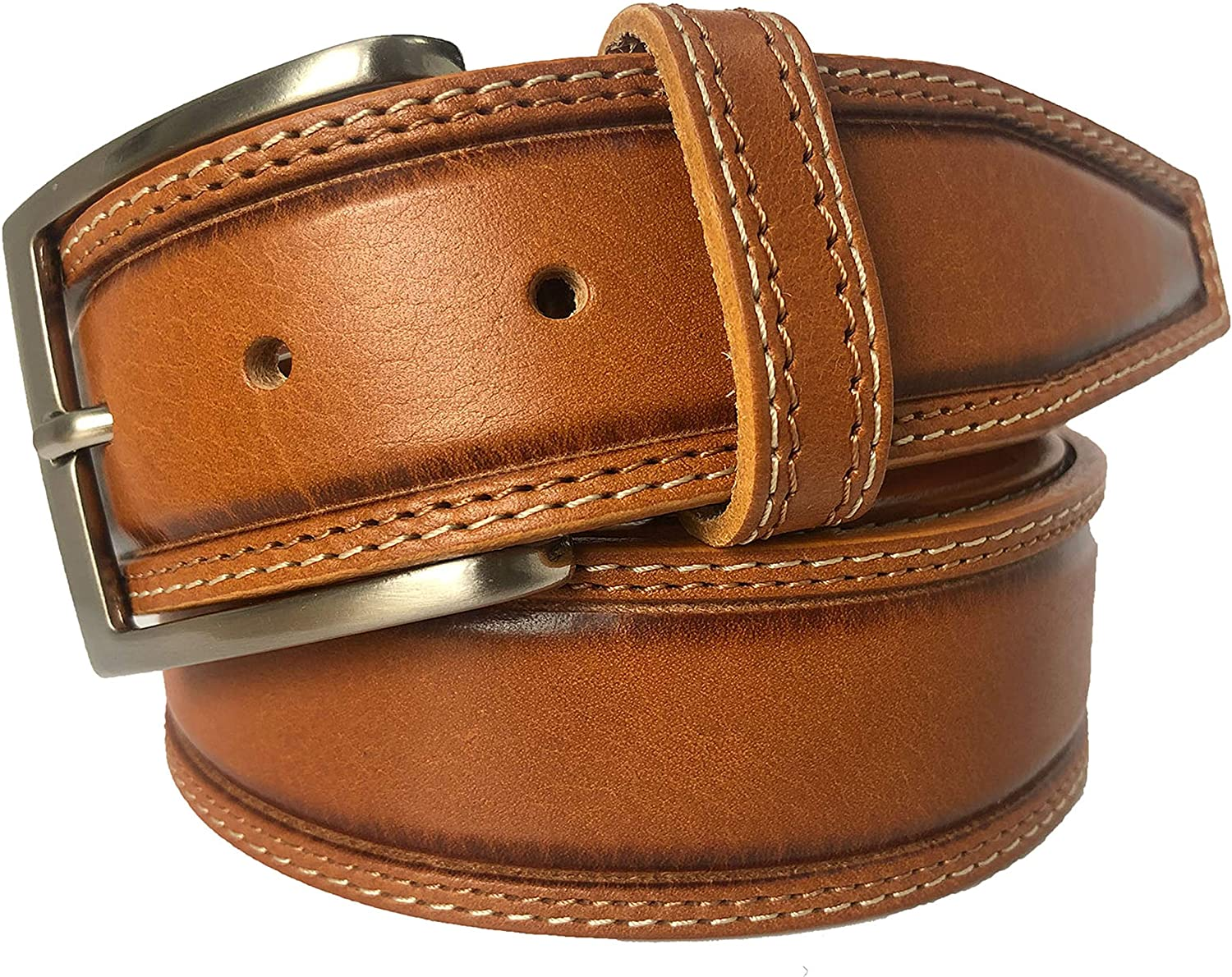 MENS BELT HONEY TAN 100% ITALIAN FULL GRAIN SINGLE SKIN HIDE LEATHER BELT