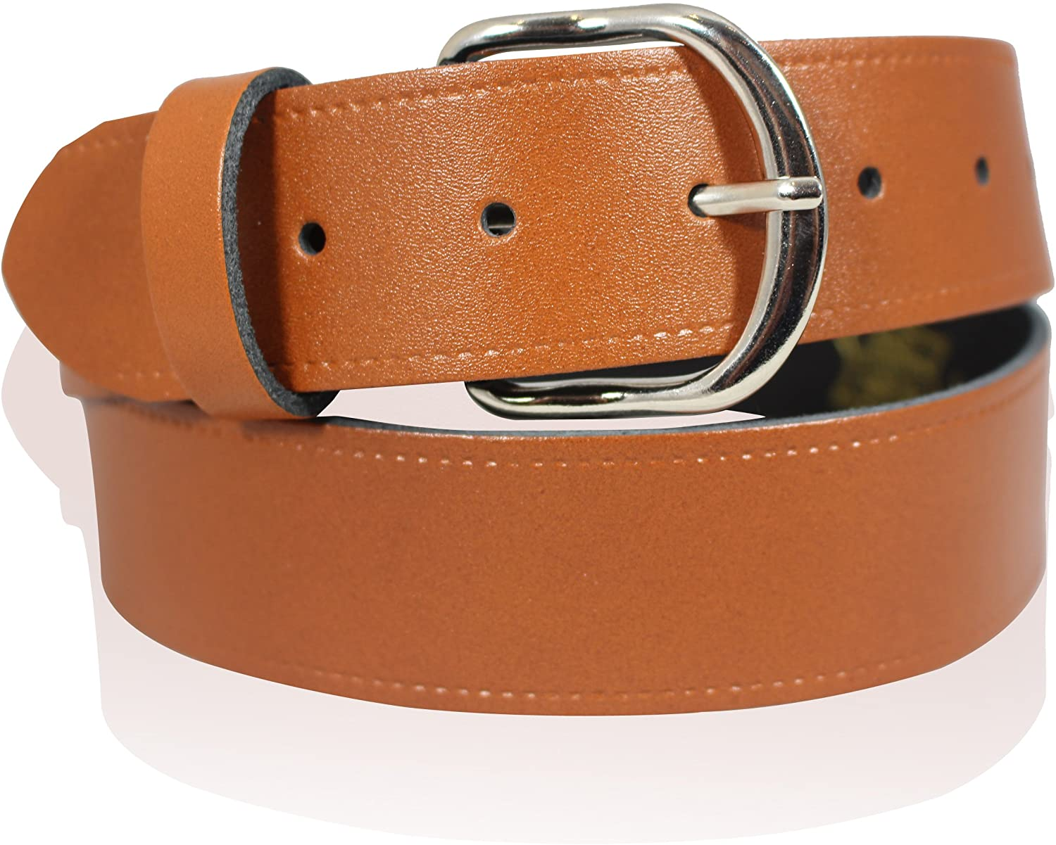 "MENS REAL LEATHER 1"" TAN BROWN BELT"