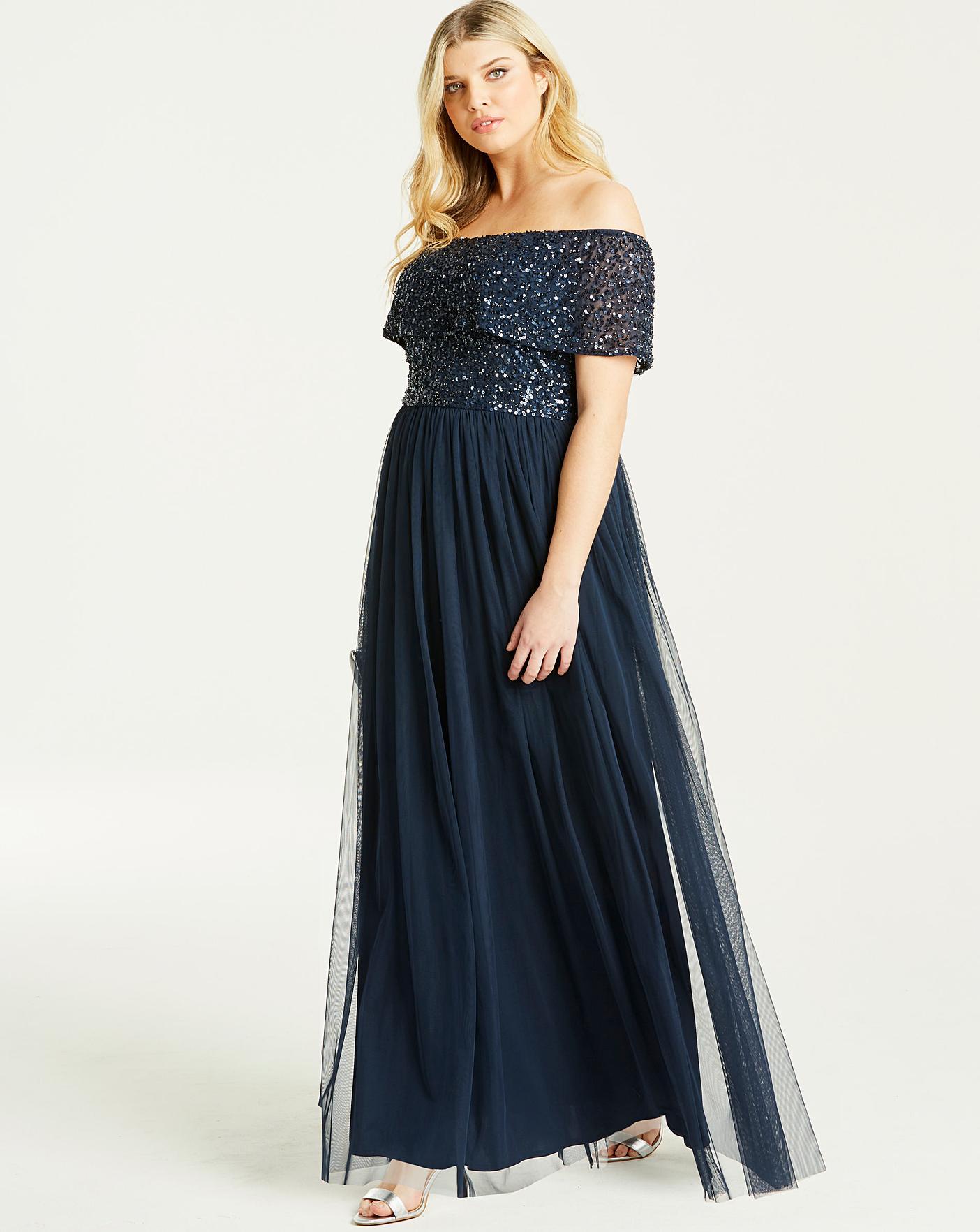 Maya Curve Bardot Maxi Dress