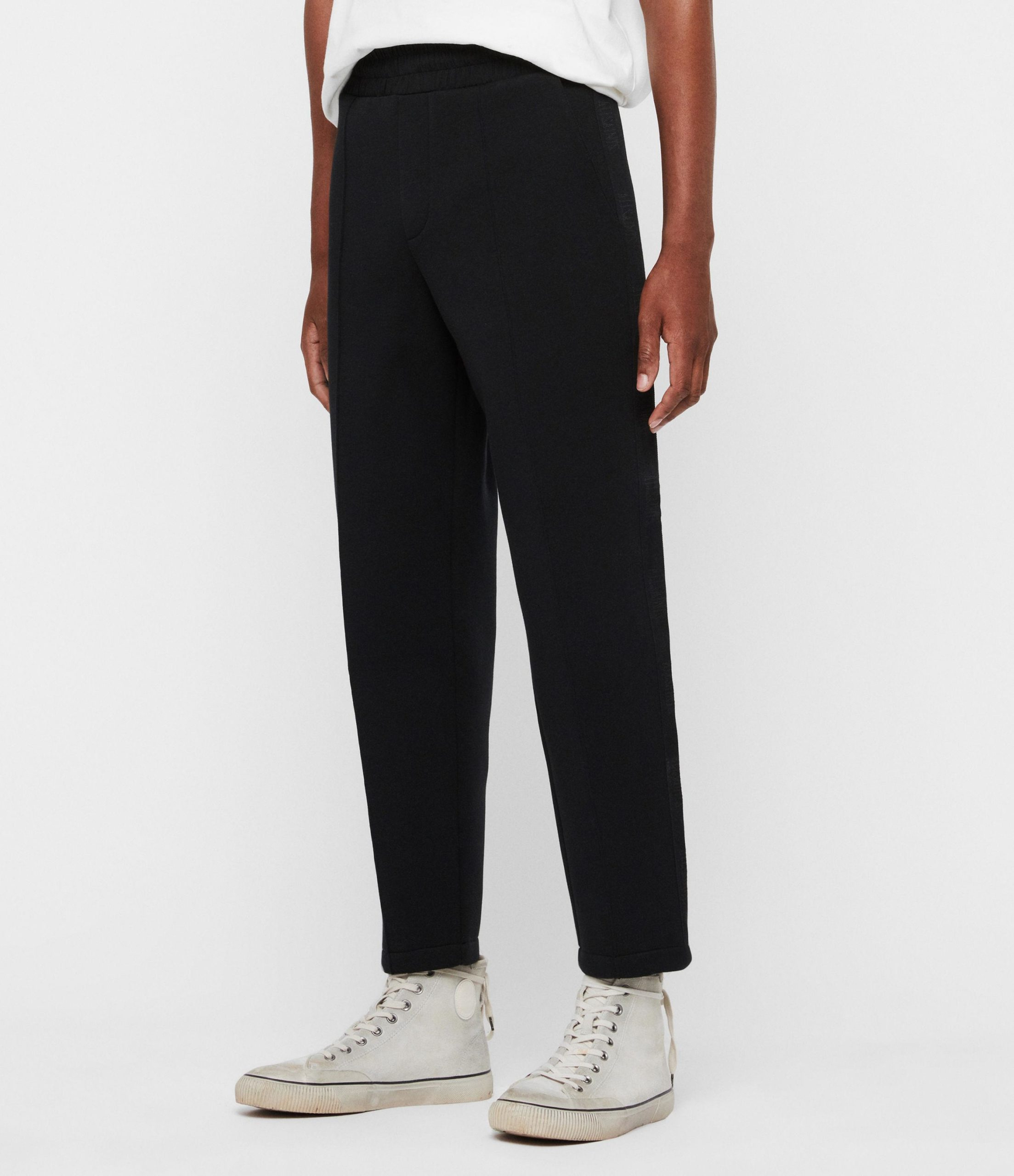Men's Black Hayford Cropped Tapered Joggers