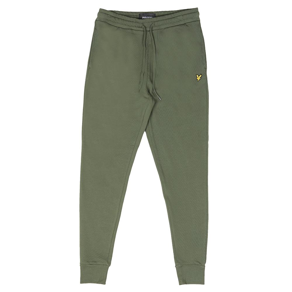Mens Green Skinny Sweatpant