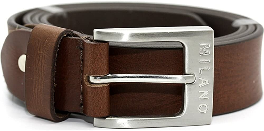 Milano Mens Full Grain Leather Belt