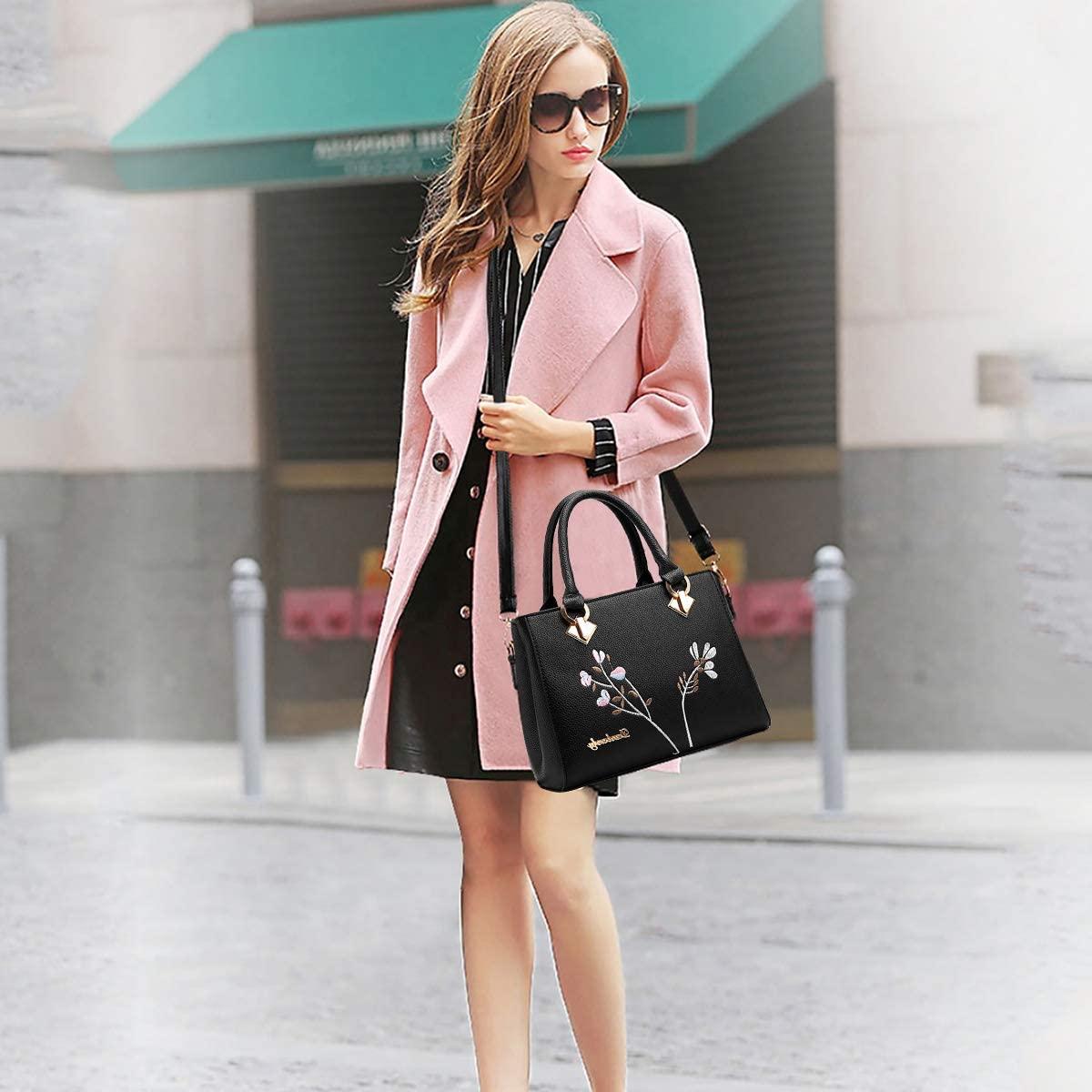NICOLE&DORIS Retro Women Top Handle Handbags Tote Purse