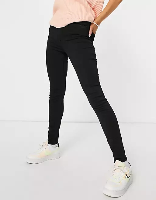 Pimkie high waist skinny jeans in black