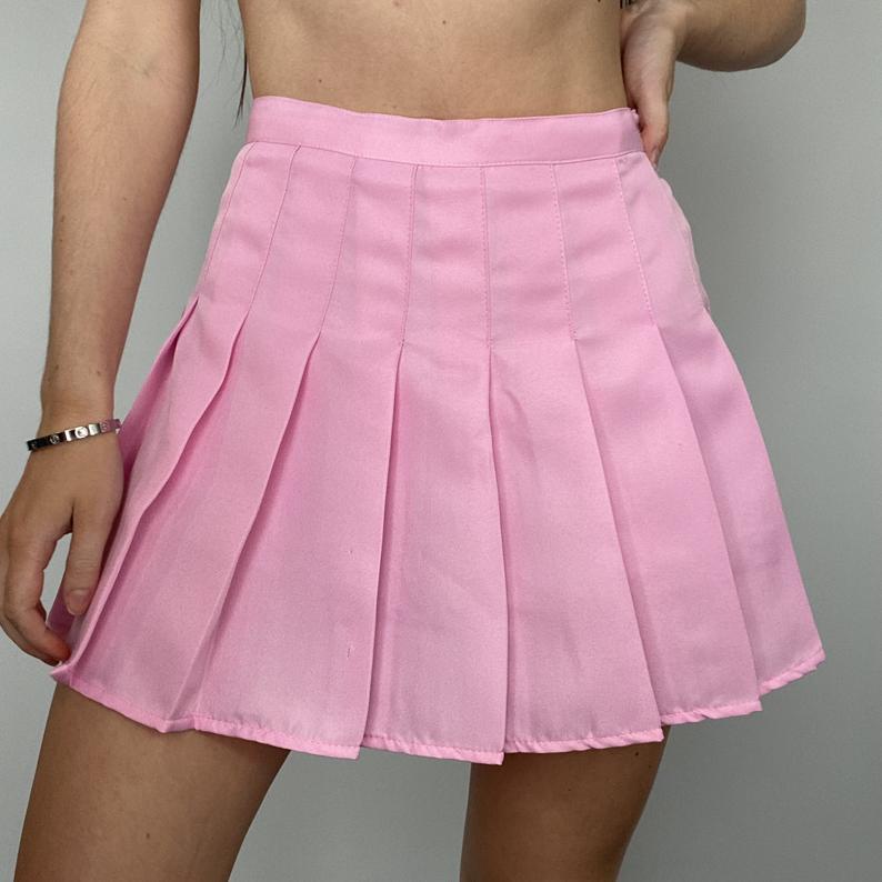 Pink pleated Tennis Skirt