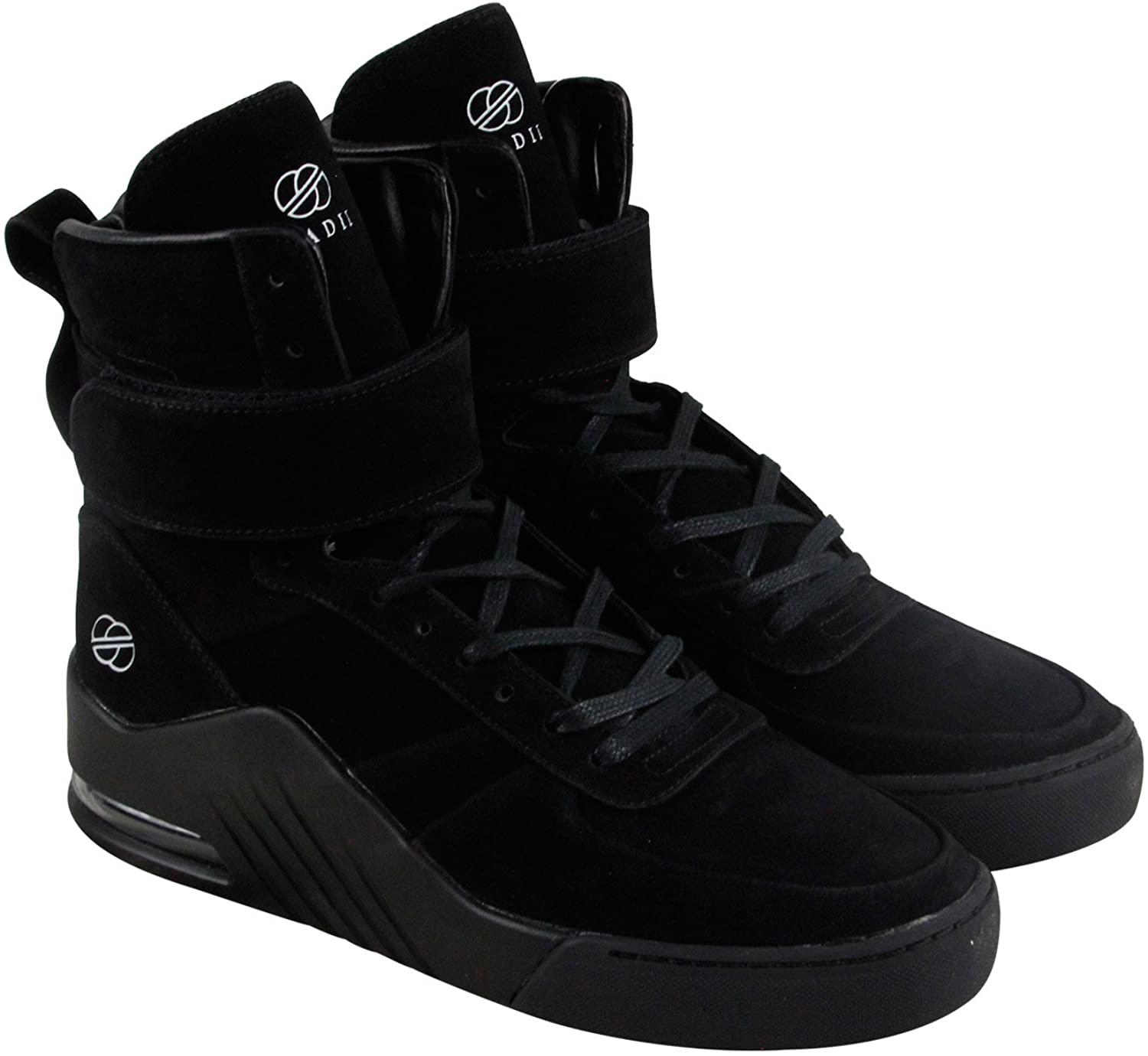 Radii Apex Mens Black Suede High Top Lace up Sneakers Shoes 8