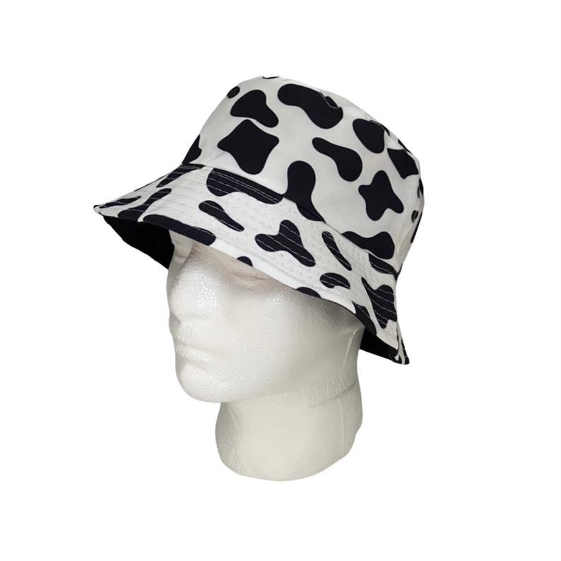 Reversible Cow Print Bucket Hat