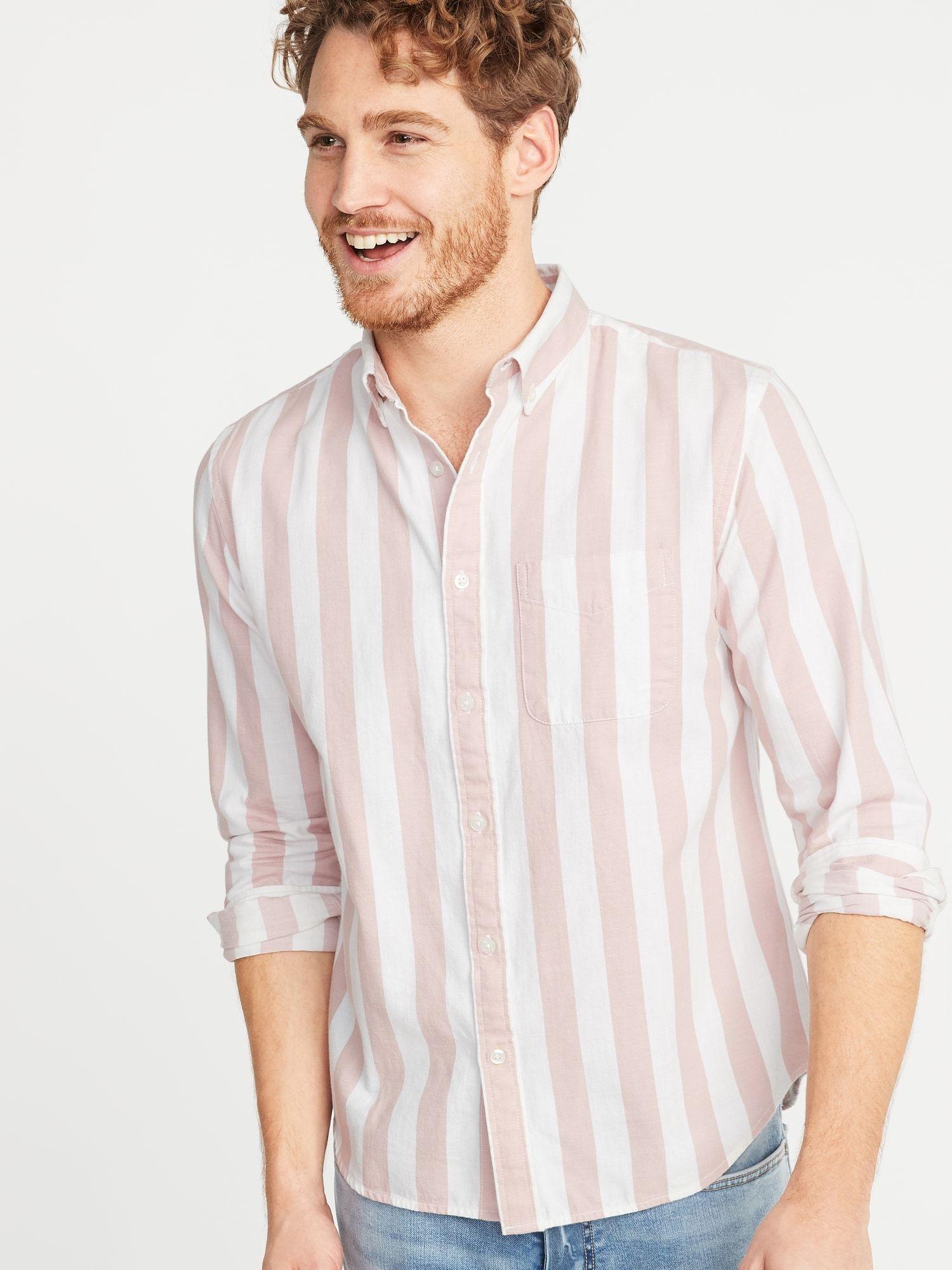 Slim-Fit Striped Twill Everyday Shirt