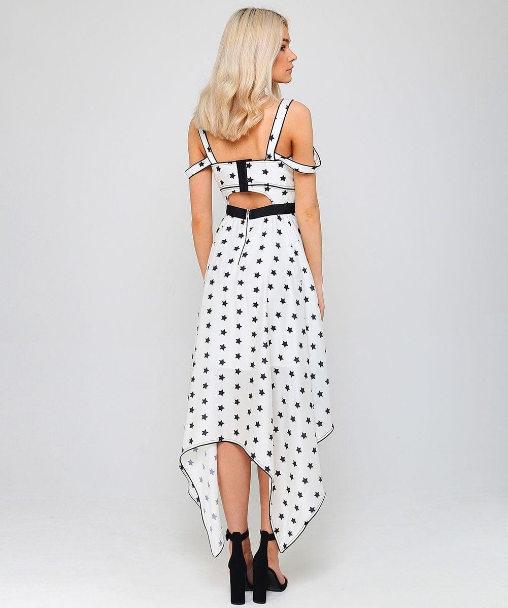 Star Print Handkerchief Dress