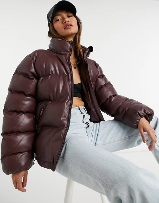 Steele Chariot puffer jacket in brown