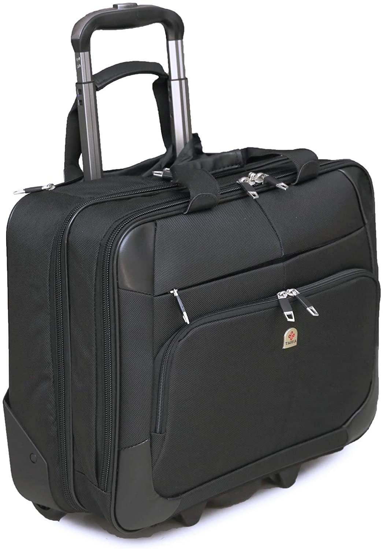 Tassia Large Wheeled Laptop Case Roller Bag
