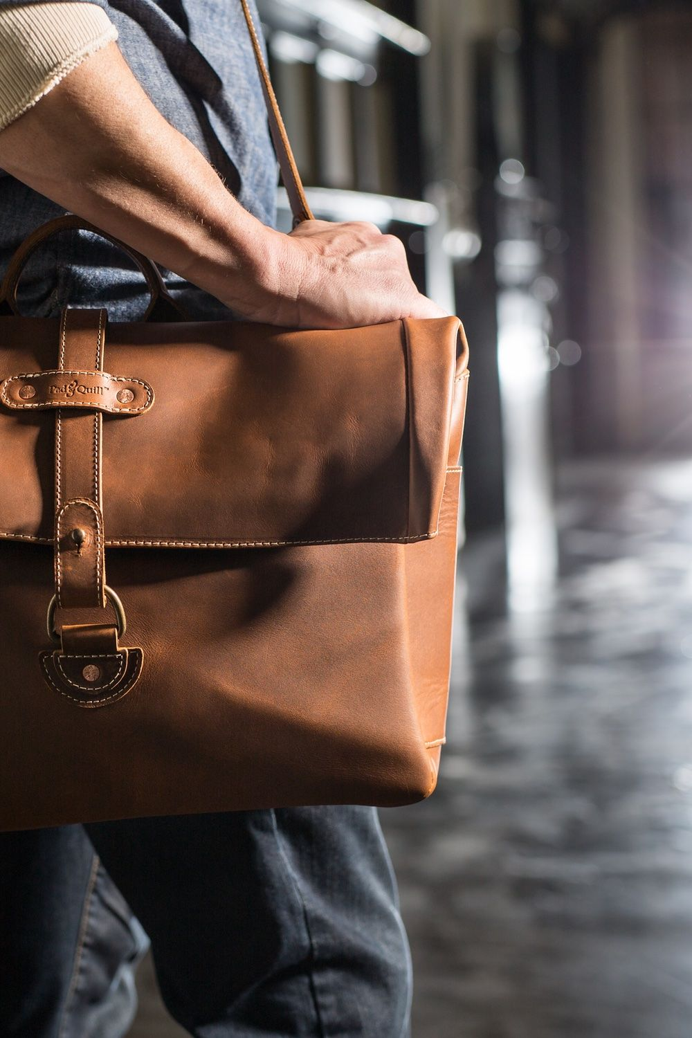 The Classic Leather Satchel