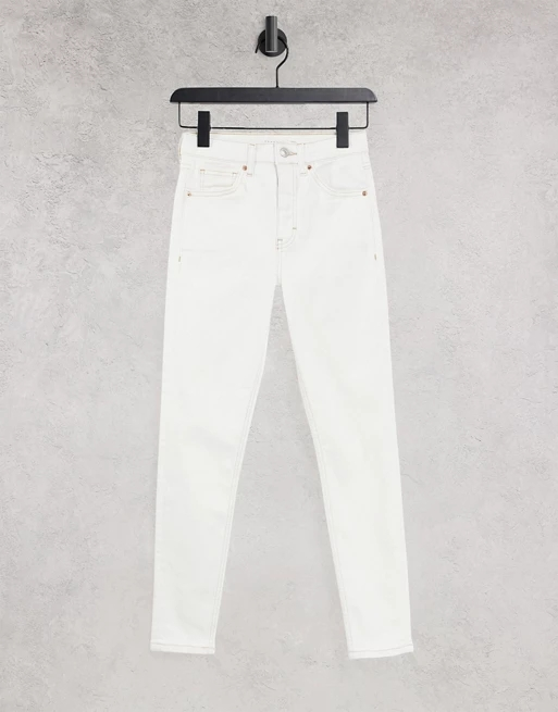 Topshop Joni Jean in White Wash