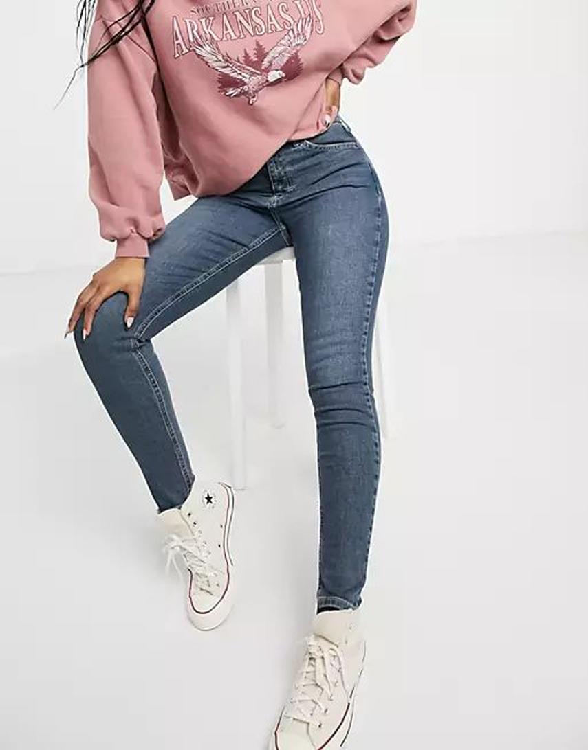 Topshop jamie skinny jeans in rich blue