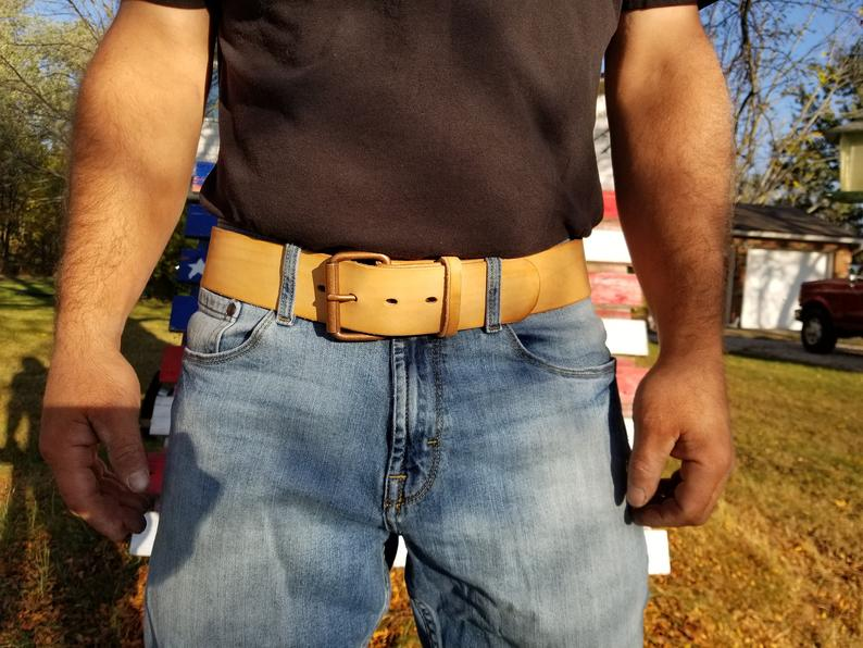 Veg Tan Natural Leather Belt
