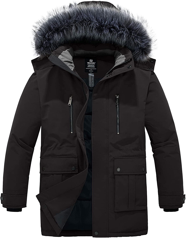 Wantdo Mens's Winter Warm Parka Coat