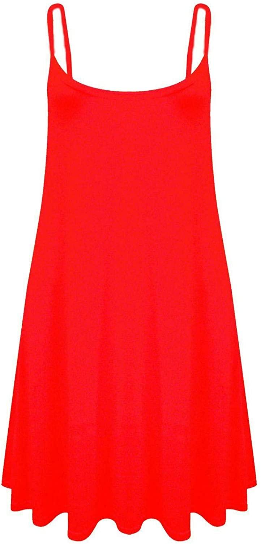 WearAll Plus Size Womens Printed Strappy Sleeveless Ladies Mini Dress