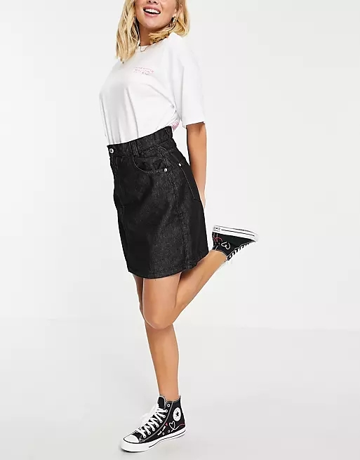 Wednesday's Girl mini skirt in denim