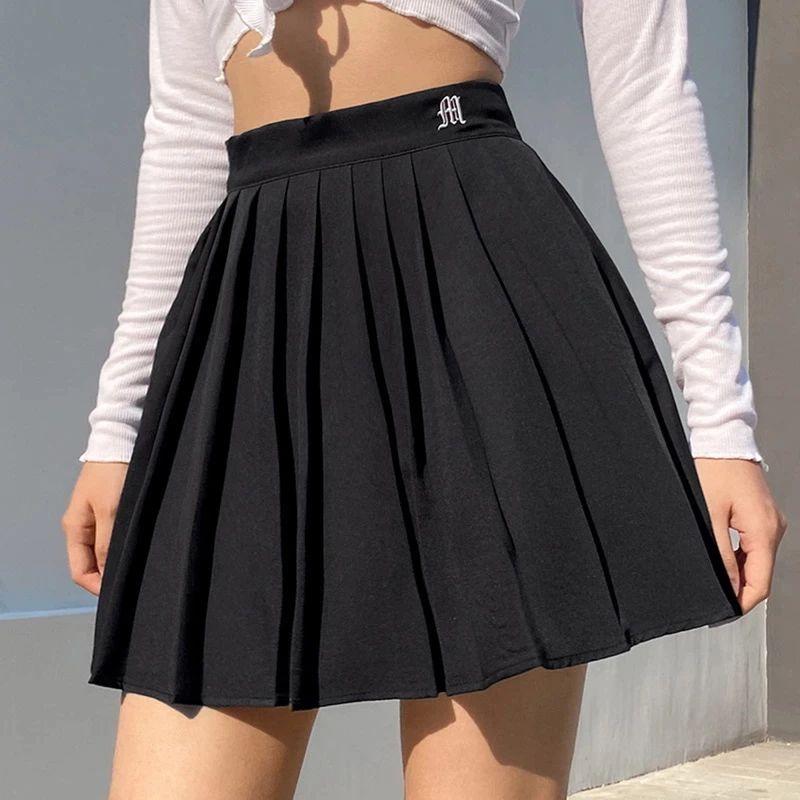 Women High Waist Pleated Skirt Sweet Cute Girls Dance Mini Skirt Cosplay Black White Skirt Female Mini Skirts Short Hot Deal