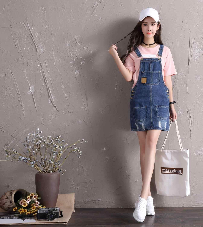 Denim Overall Dress