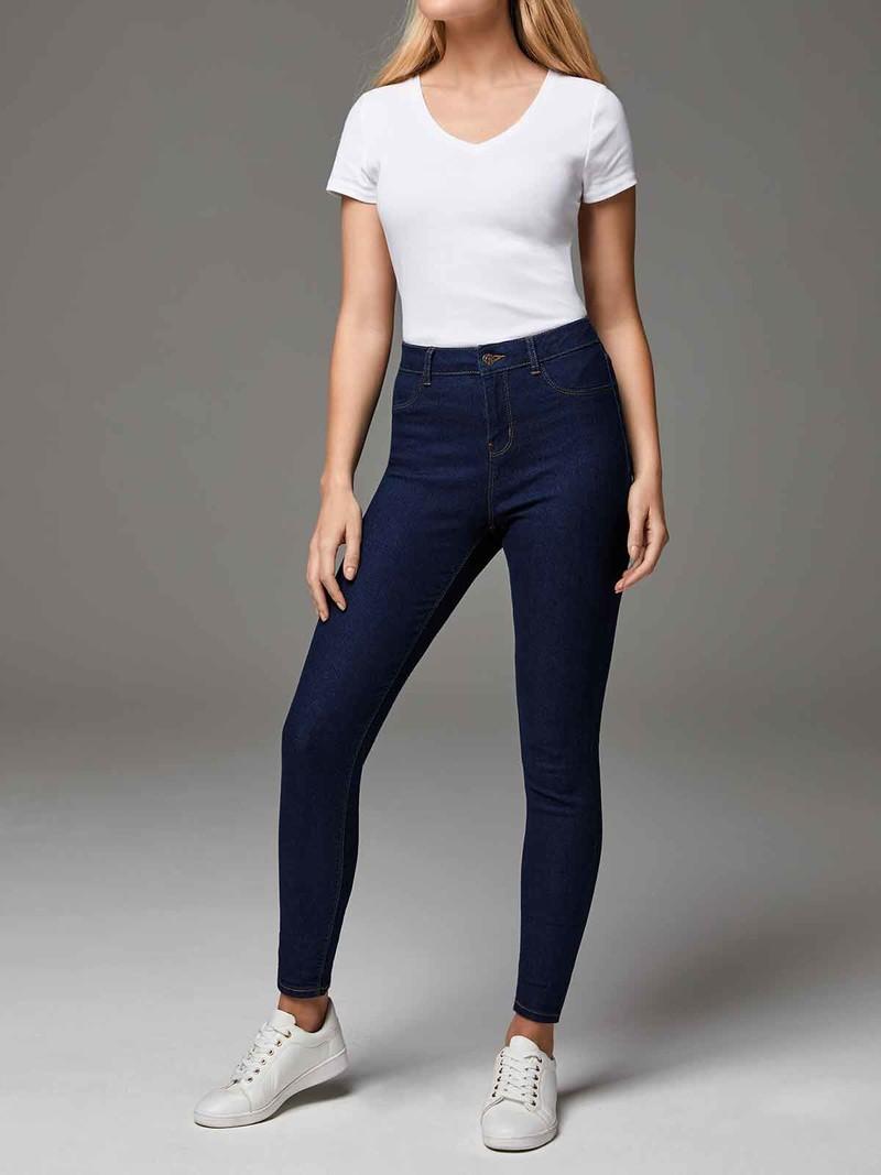 Womens Indigo Blue Amie Skinny Jeans