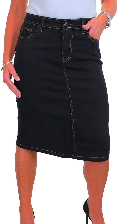 Women's Stretch Denim Jeans Pencil Skirt
