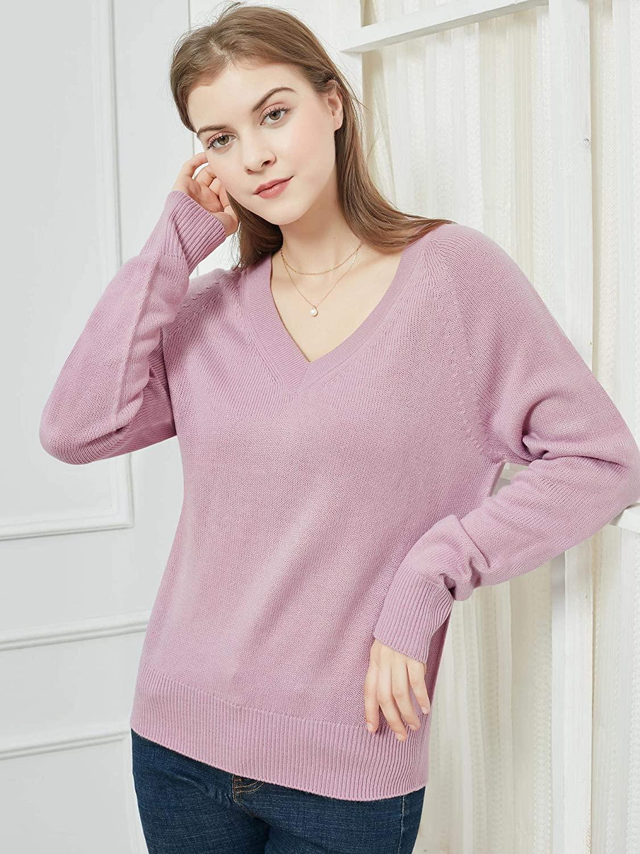 Woolen Bloom Womens V Neck Jumper