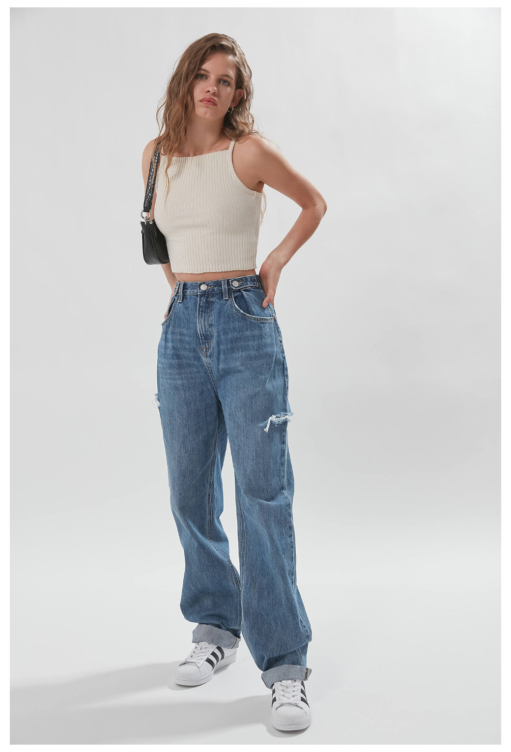 ZGY DENIM High-Waisted Baggy Jean